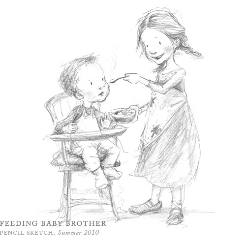 Feeding Baby Brother by Breezy Brookshire