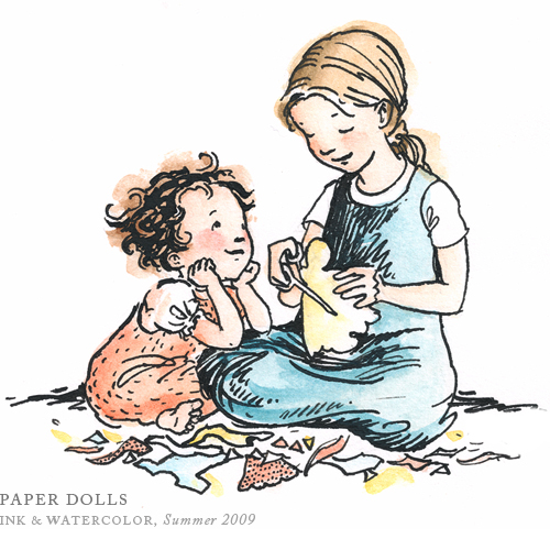 Playing with Paper Dolls by Breezy Brookshire