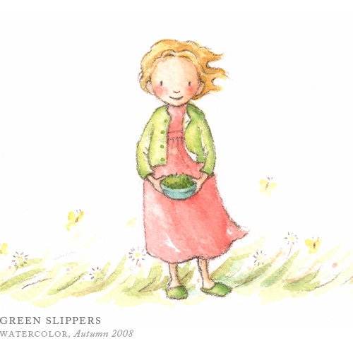 Green Slippers by Breezy Brookshire