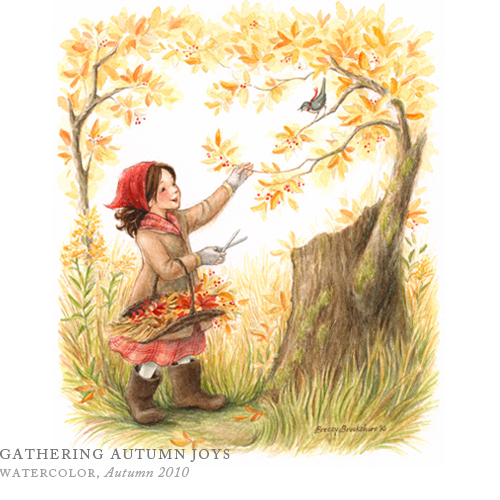 Gathering Autumn Joys by Breezy Brookshire